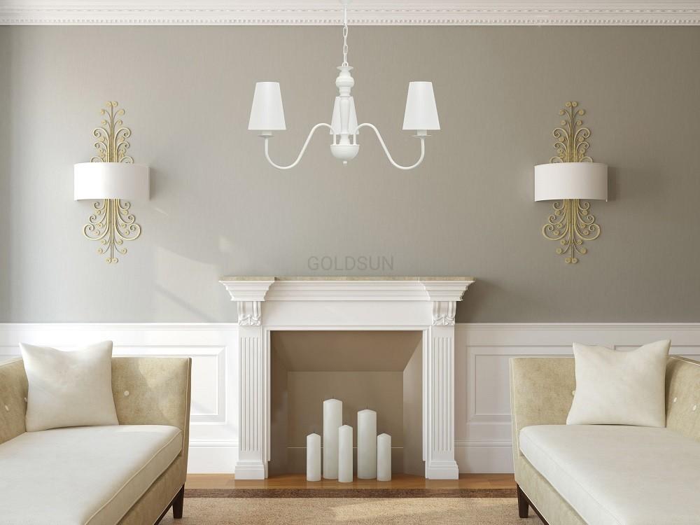 Biała Trzypłomienna Lampa Do Sypialni Goldsun 2s 1337g26 3 Ramienna