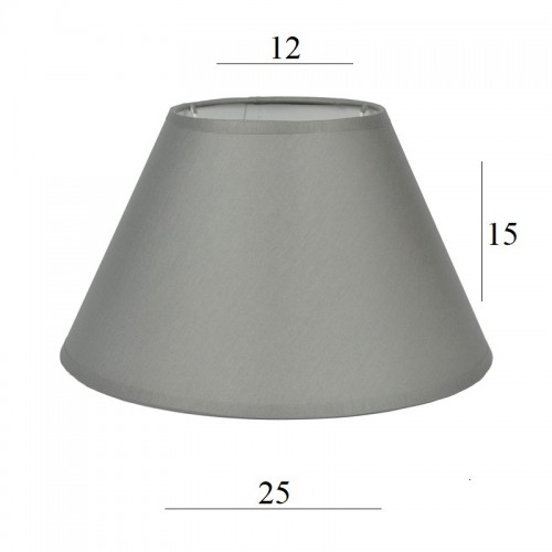 ABAŻUR do lampy stożek 3S E27 szary 1225 wys 15