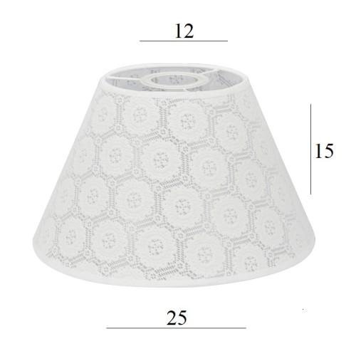 Abażur Do Lampy Wiszącej Stożek 3s E27 Koronka Róże 1225 Wys 15