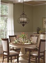 lampy wiszace nad stol